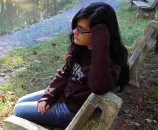 Adolescent reflecting
